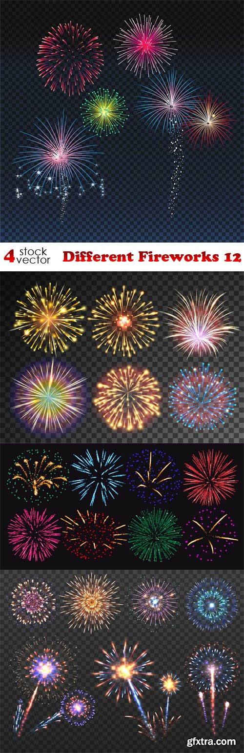 Vectors - Different Fireworks 12