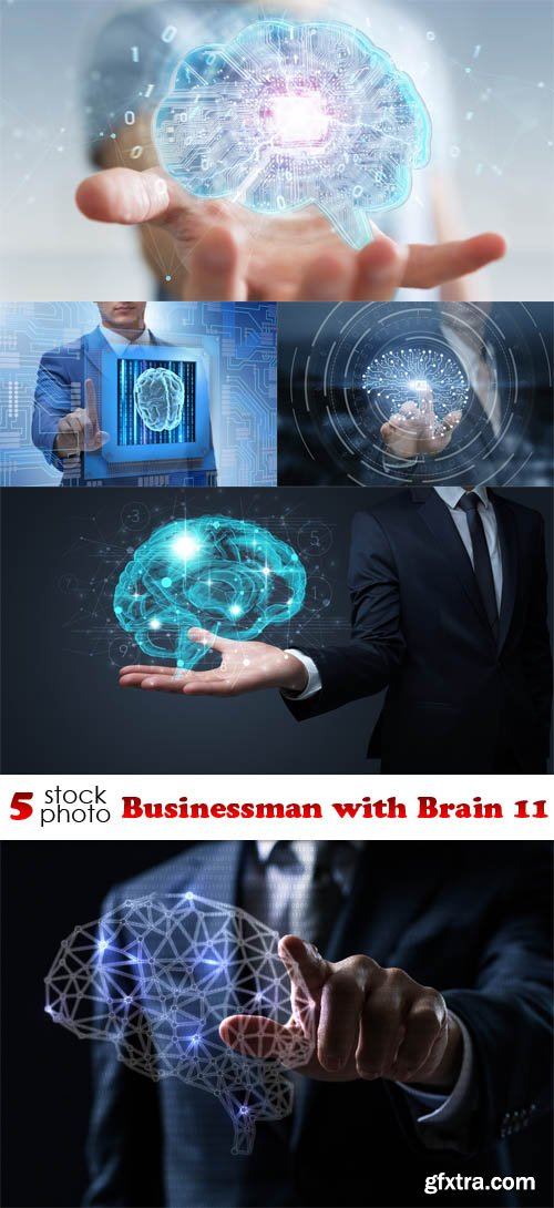 Photos - Businessman with Brain 11