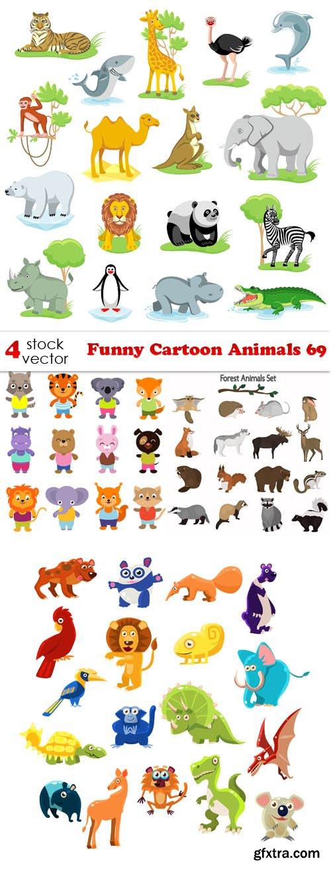 Vectors - Funny Cartoon Animals 69