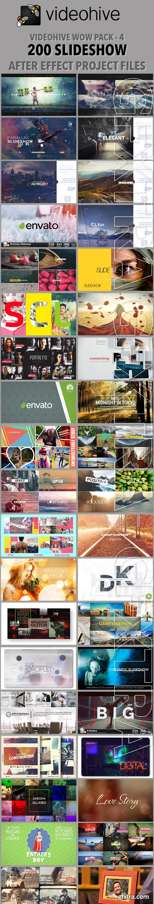 Videohive Wow Pack - 4 - 200 SlideShow After Effect Project Files