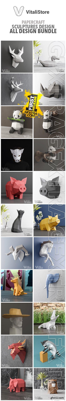 VitaliStore - All Design Bundle $300 - Papercraft Sculptures Design
