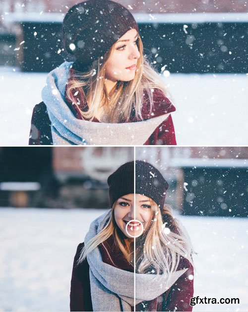 3 Snow Actions for Photoshop