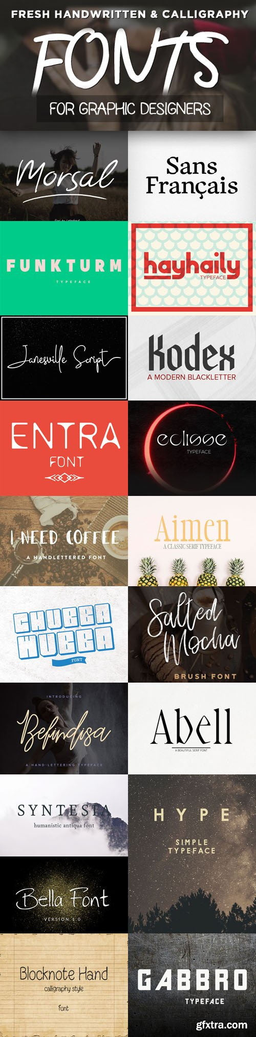 19 Fresh Fonts for Web & Graphic Designers