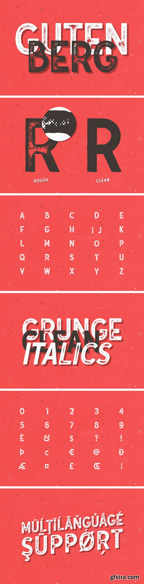 Gutenberg Font Family - 4 Weights - (Re-Up)