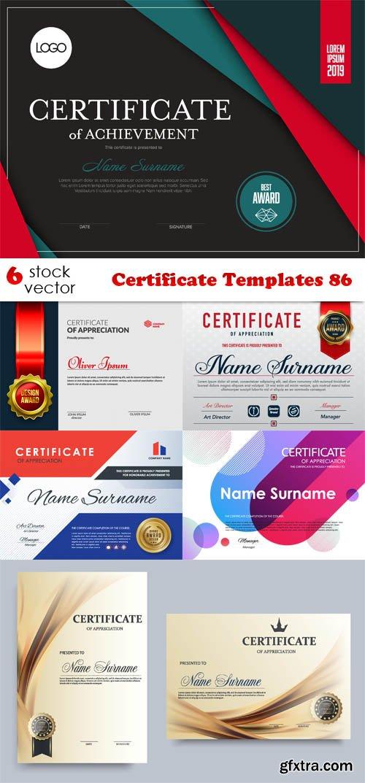 Vectors - Certificate Templates 86