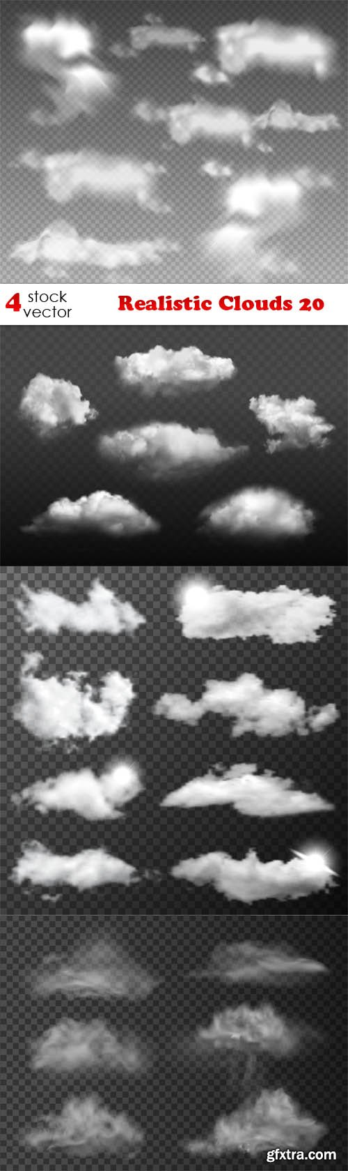 Vectors - Realistic Clouds 20