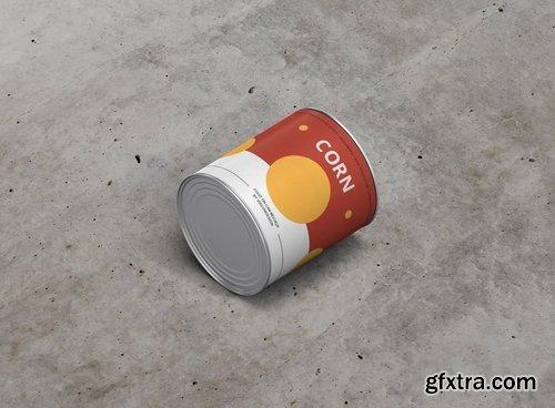 Food Tin Can Mockup Medium Size