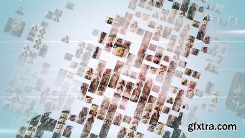 Videohive - Simple Mosaic Logo - 23378418