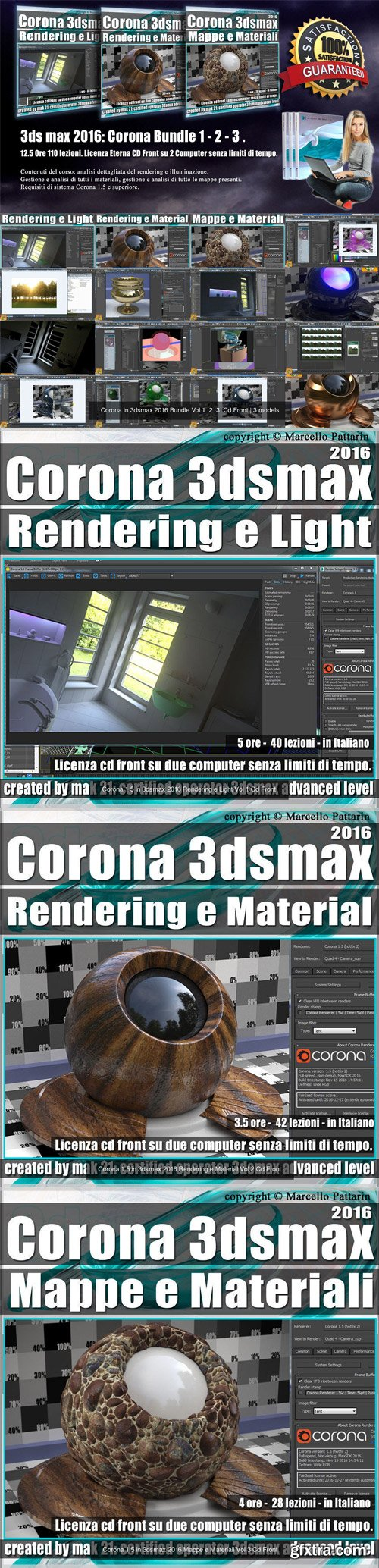 CgTrader - Corona in 3dsmax 2016 Bundle Vol 1 2 3 Cd Front 3D Model Collection