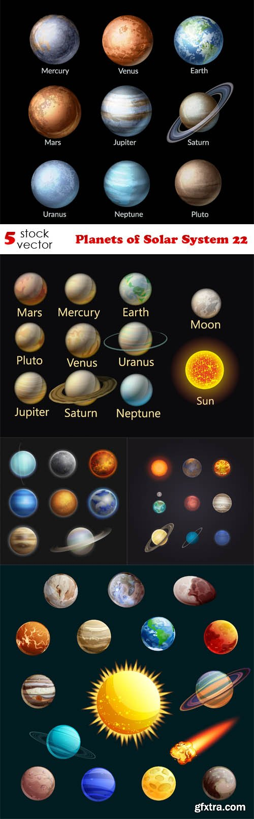 Vectors - Planets of Solar System 22