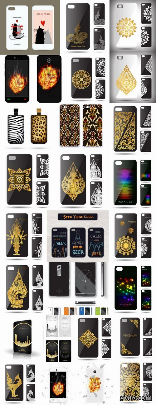 Cover for mobile phone case bag a tablet a vector image 25 EPS