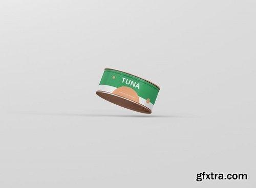 Food Tin Can Mockup Small Size