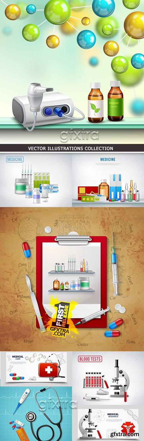 Medicine doctor\'s tools treatment and diagnostics