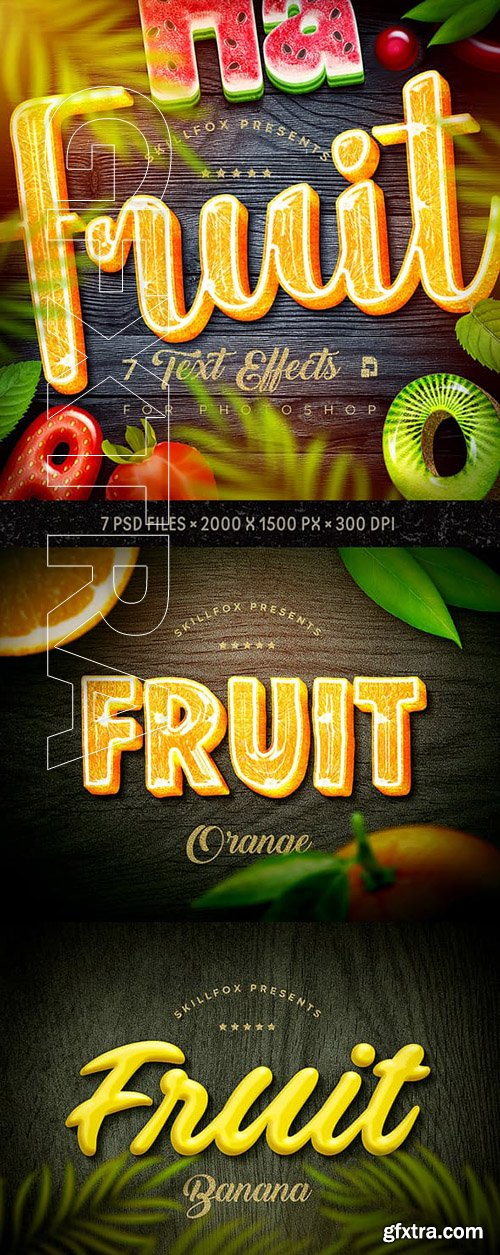GraphicRiver - Fruit Text Effects х7 Psd 23363564