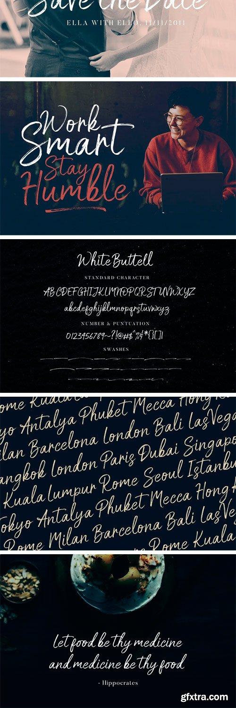 CM - White Buttell Brush Font 3533056
