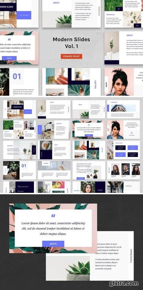 Modern Slides (Vol.1) - PowerPoint, Keynote and Google Slides Template