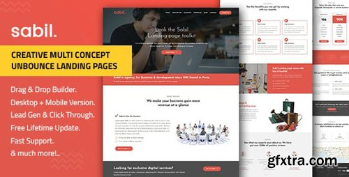 ThemeForest - Sabil v1.0 - Multi-Purpose Template with Unbounce Page Builder - 22662568
