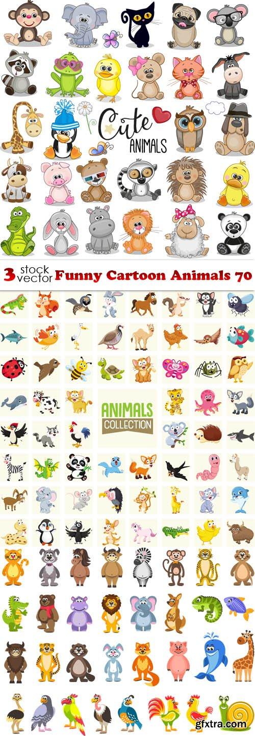 Vectors - Funny Cartoon Animals 70
