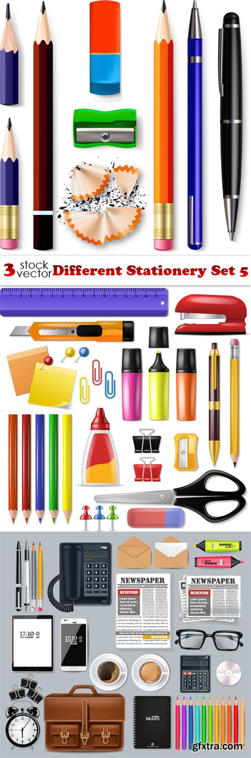 Vectors - Different Stationery Set 5