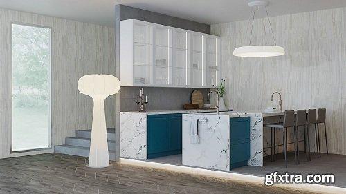 Modern Kitchen 46 3d Model