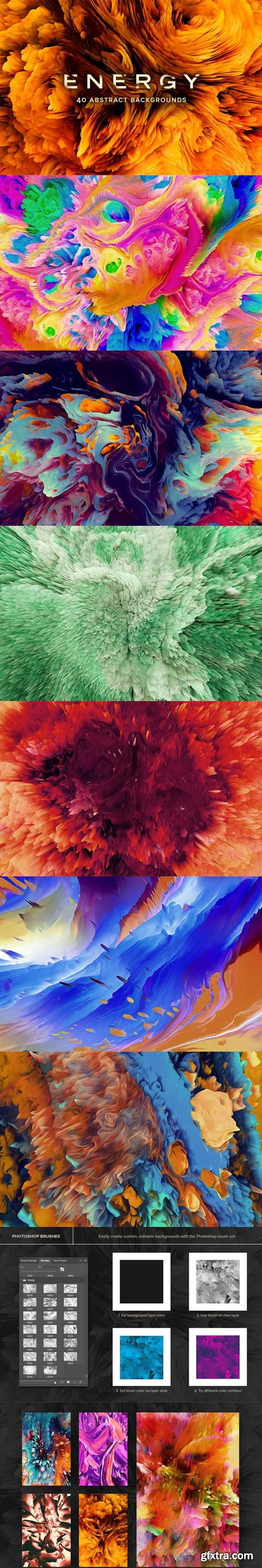 ChromaSupply - Energy: 40 Abstract Backgrounds