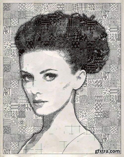 GraphicRiver - Doodle Mosaic Art Photoshop Action 21647800