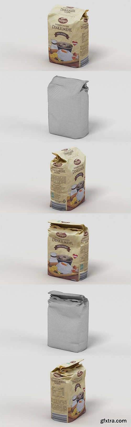 Cgtrader - Pack of Flour 3D model