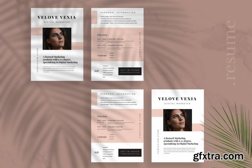 Minimalist CV Resume Vol 26