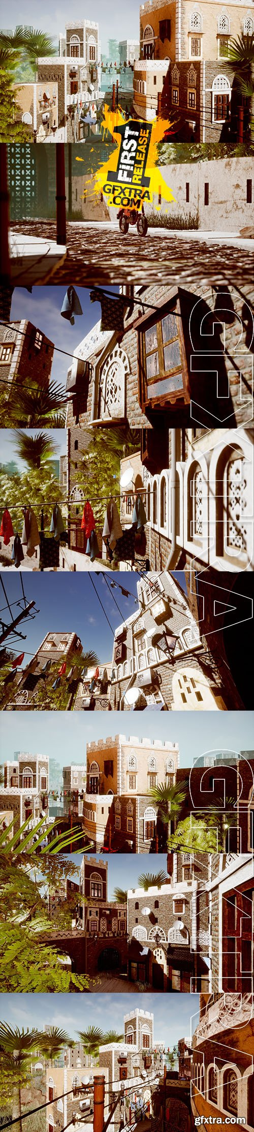 Cgtrader - UE4 Low Poly Middle East City Pack