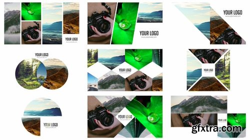 Videohive 100 Clean Photo Openers - Logo Reveal Pack 11765632