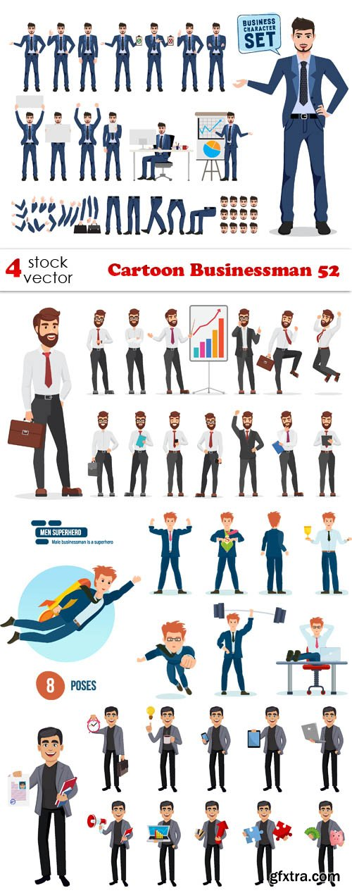 Vectors - Cartoon Businessman 52