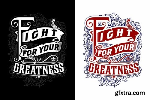 Fight For Your Greatness Lettering
