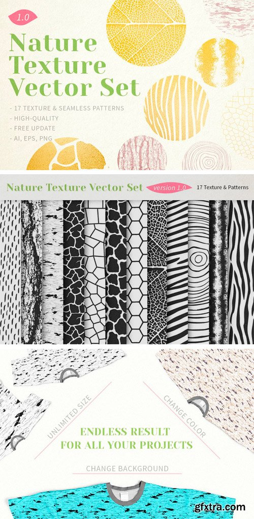 CM - Nature Texture Vector Set 1278373