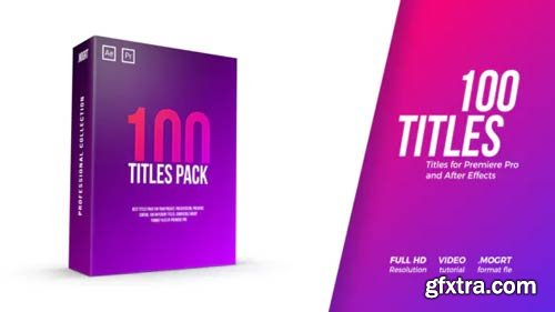 Videohive - 100 Titles Pack - 22096197