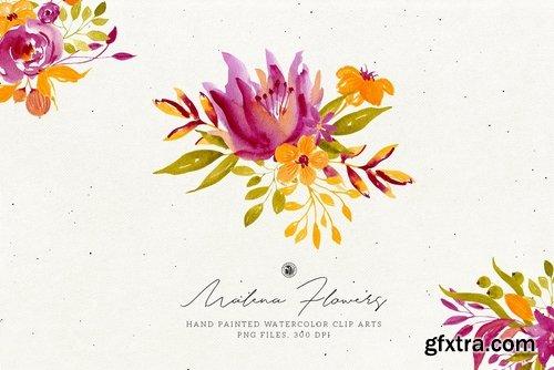 Malena Watercolor Flowers