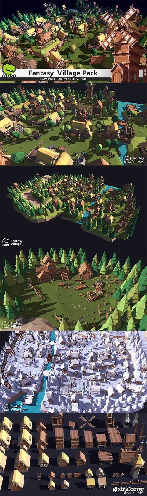 Cgtrader - TARBO - Lowpoly Fantasy Village Pack