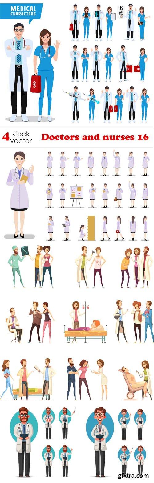 Vectors - Doctors and nurses 16