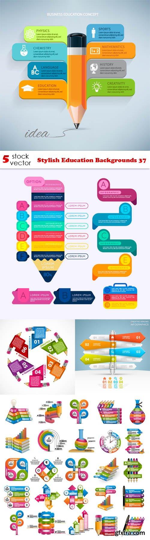 Vectors - Stylish Education Backgrounds 37