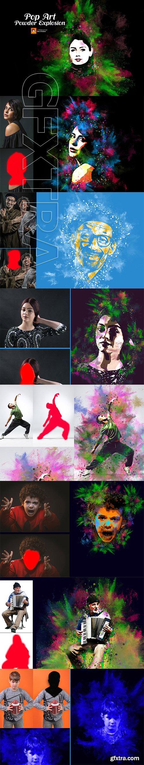 CreativeMarket - Pop Art Powder Explosion Action 3253760
