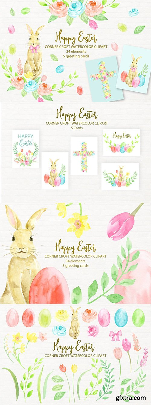 Happy Easter Cards and Illustration