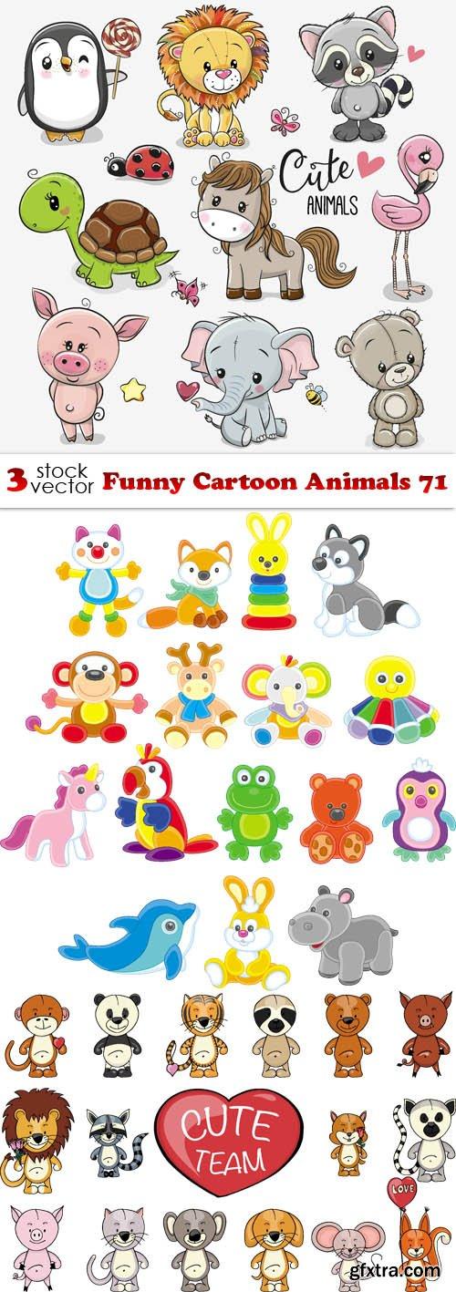 Vectors - Funny Cartoon Animals 71
