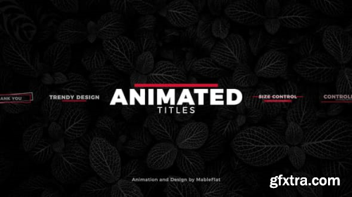 VideoHive Animated Titles Pack 21923349