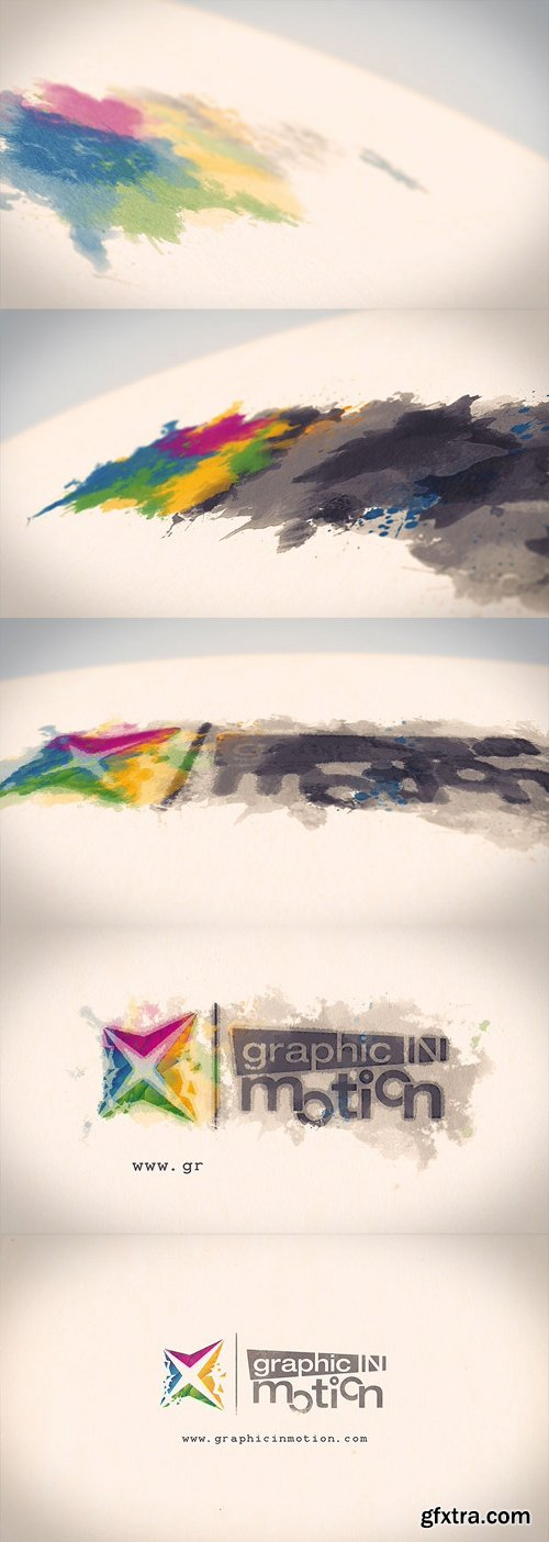 Videohive Watercolor & Ink Logo Reveal 10032703
