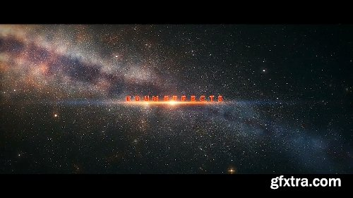 Videohive Galactic Journey Title Sequence 15677991