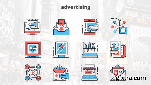 Videohive Advertising – Thin Line Icons 23454889