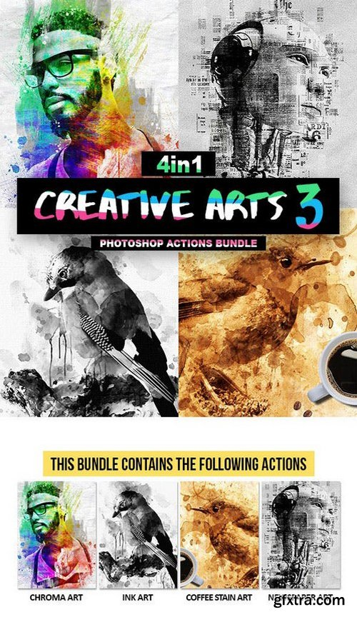 Graphicriver - Creative Arts Photoshop Action Bundle V3 20998013
