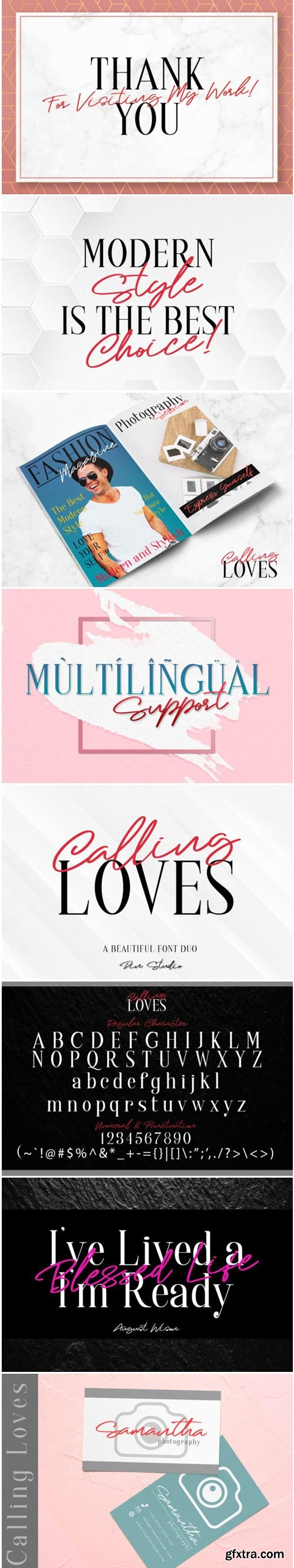 Calling Loves Duo Font