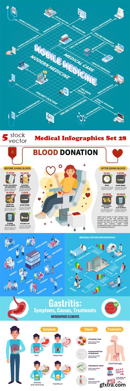 Vectors - Medical Infographics Set 28