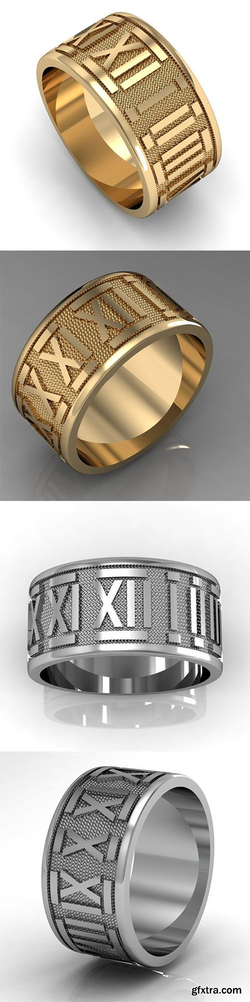 Cgtrader - ring with roman numerals 3D print model