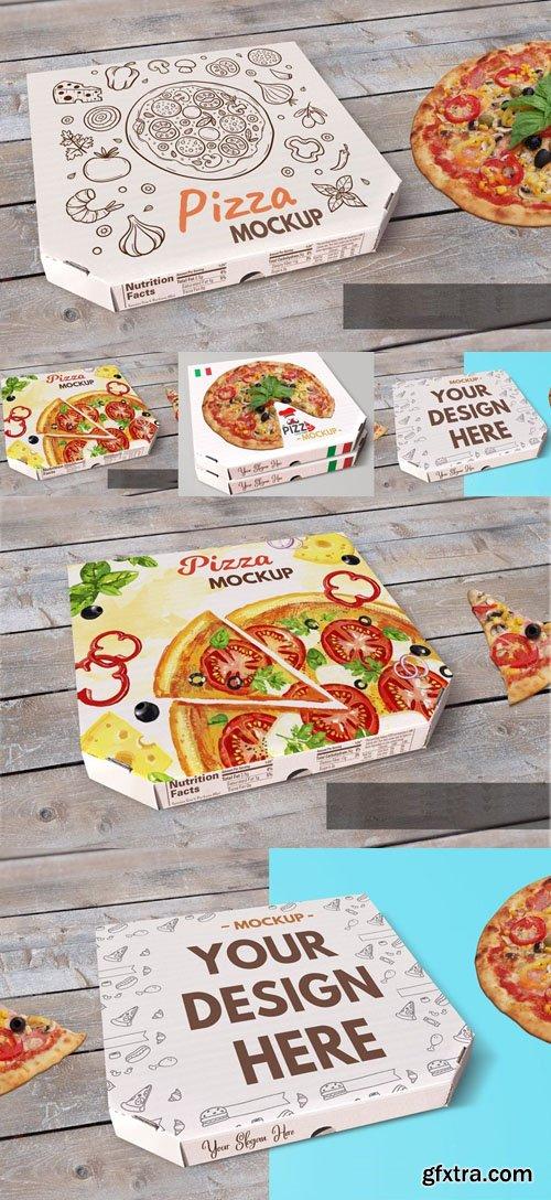 Pizza Box PSD Mockup Template